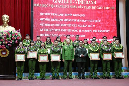 Giao lưu - Vinh danh các tập thể và cá nhân đạt thành tích xuất sắc trong các cuộc thi Olympic và Hội thao Công an nhân dân năm 2018