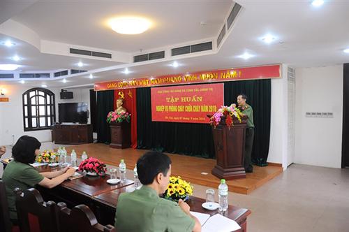 Cục Công tác Đảng và công tác chính trị, Bộ Công an tập huấn nghiệp vụ phòng cháy, chữa cháy năm 2018