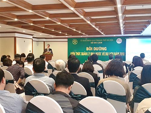 Lớp bồi dưỡng kiến thức quản lý nhà nước về du lịch năm 2018