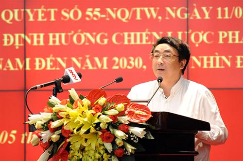 Hội nghị học tập, quán triệt Chuyên đề năm 2020 và Nghị quyết số 55-NQ/TW, ngày 11/2/2020 của Bộ Chính trị