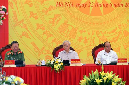 Hội nghị Đảng ủy Công an Trung ương 06 tháng đầu năm 2020