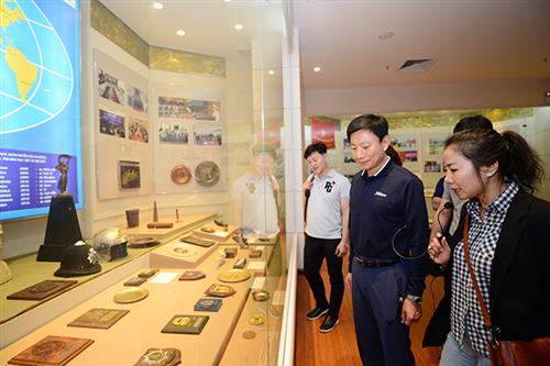 Đoàn đại biểu Sở Cảnh sát tỉnh Gyeongsangbuk - Hàn Quốc thăm Bảo tàng Công an nhân dân