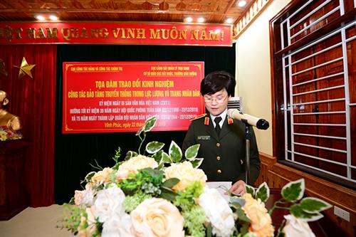Tọa đàm trao đổi kinh nghiệm công tác bảo tàng truyền thống lực lượng vũ trang nhân dân