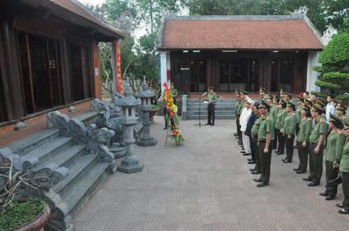 Viện lịch sử công an tổ chức hoạt động về nguồn tại huyện Nam Đàn, tỉnh Nghệ An