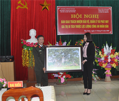 Bàn giao trách nhiệm, bảo vệ, quản lý và phát huy giá trị di tích Công an nhân dân thuộc quần thể Khu Di tích lịch sử Quốc gia đặc biệt Tân Trào