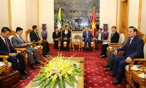 Bộ trưởng Tô Lâm tiếp xã giao Thứ trưởng Bộ Nội vụ Cộng hòa Liên bang Myanmar