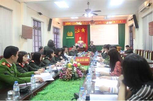 Hội nghị tập huấn nghiệp vụ công tác quản lý, hướng dẫn tại Khu lưu niệm Sáu điều Bác Hồ dạy Công an nhân dân
