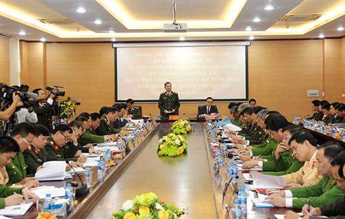 Đoàn kiểm tra số 1 Bộ Công an kiểm tra công tác tại Công an thành phố Hà Nội