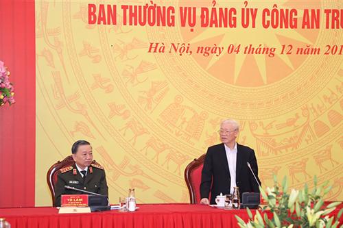 Hội nghị Ban Thường vụ Đảng ủy Công an Trung ương năm 2019