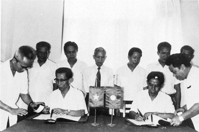 60.Lễ ký Biên bản thoả thuận về công tác An ninh giữa Bộ Nội vụ Việt Nam và Bộ Nội vụ Lào, tháng 7.1980