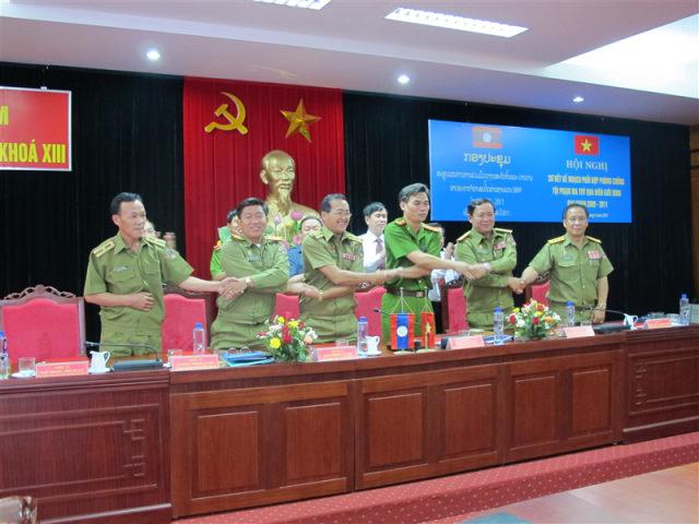 144. Hội nghị Sơ kết kế hoạch phối hợp phòng chống tội phạm ma túy qua biên giới SH09 giai đoạn 2009 – 2011, tháng 6.2011