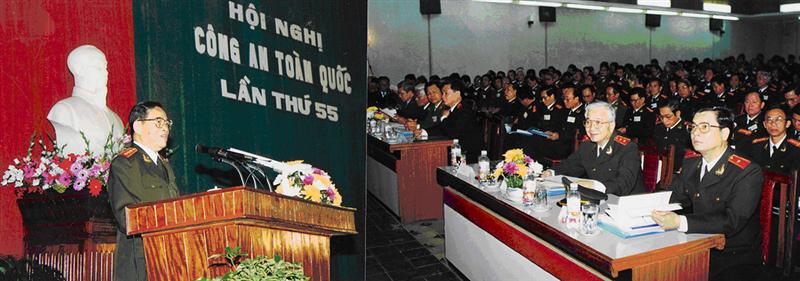 38.Đồng chí Lê Minh Hương, Bộ trưởng Bộ Công an tổng kết Hội nghị Công an toàn quốc lần thứ 55, ngày 06.01.2000