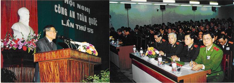 39.Tổng Bí thư Lê Khả Phiêu phát biểu tại Hội nghị Công an toàn quốc lần thứ 55, ngày 06.01.2000