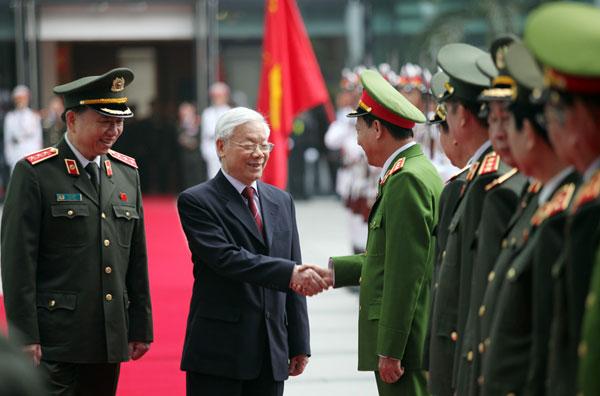 59.Tổng Bí thư Nguyễn Phú Trọng với các đồng chí lãnh đạo Bộ Công an